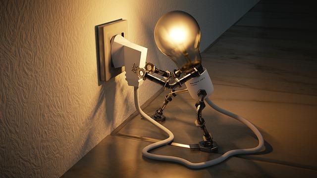 Ampoule qui se branche elle-même
